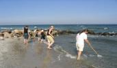 Keschern am Strand